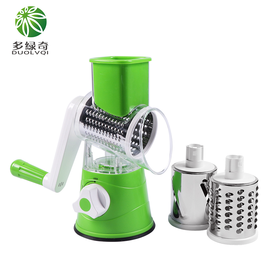 Manual Vegetable Cutter Slicer Kitchen Tool Multi-functional Round Mandoline Slicer Potato Cheese