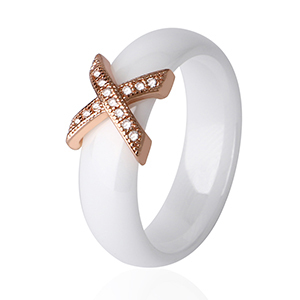 White Rose Gold 6mm