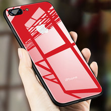 ФОТО luxury tempered glass phone case for iphone 7 8 6 6s plus cover silicone tpu hard cases for iphone x 10 glass case coque bag