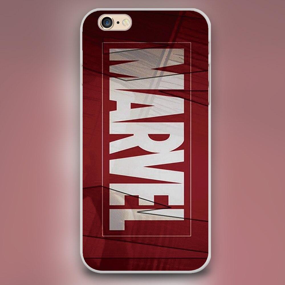 For marvel red logo Design black skin plastic case cover cell phone cases for iphone 4 4s 5 5c 5s 6 6s 6plus hard plastic shell
