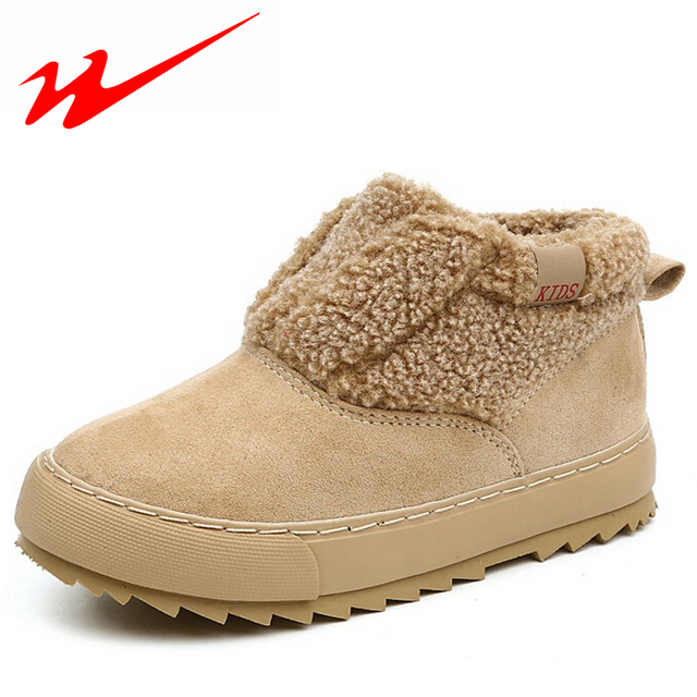 Double Star Kids Shoes New Comfortable Children Shoes Warm Velvet Shoes For Boys And Girls Winter Outdoor Walking Shoes