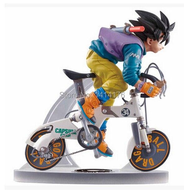 Son Goku On The Bike Classic Japan Anime Dragon Ball Z Action Figures Son Goku Real McCoy Desktop Statue 23 cm PVC Figure