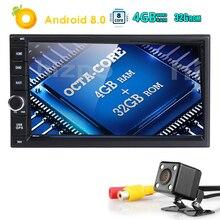 Стандартный двойной 2Din Android8.0 в тире автомобиля стерео радио gps навигации Поддержка 4 GWIFI Bluetooth Mirrorlink с задняя камера 4 + 32