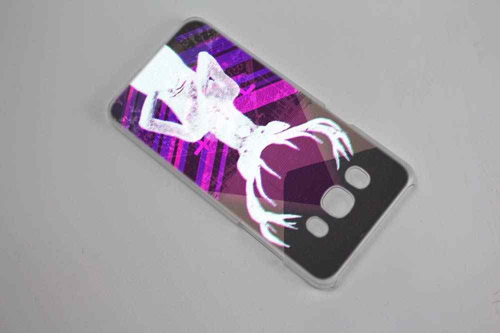 Satánica cráneo cubierta de funda transparente Coque duro para Samsung Galaxy J1 J3 J5 J7 2016 2017 J5 J7 primer