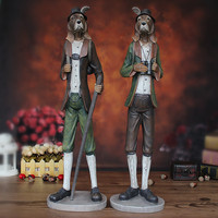 Decoration Upscale American Country To Do The Old Gentleman Of High End Tourists Dog Resin Crafts