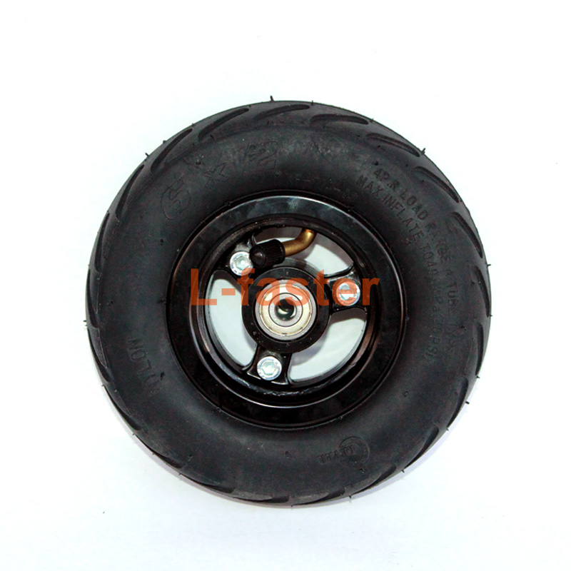L-faster 6X2 Inflation Tire Wheel Use 6 Tire Alloy Hub 160mm Pneumatic Tyre Scooter F0 Pneumatic Wheel Trolley Cart Air Wheel/…