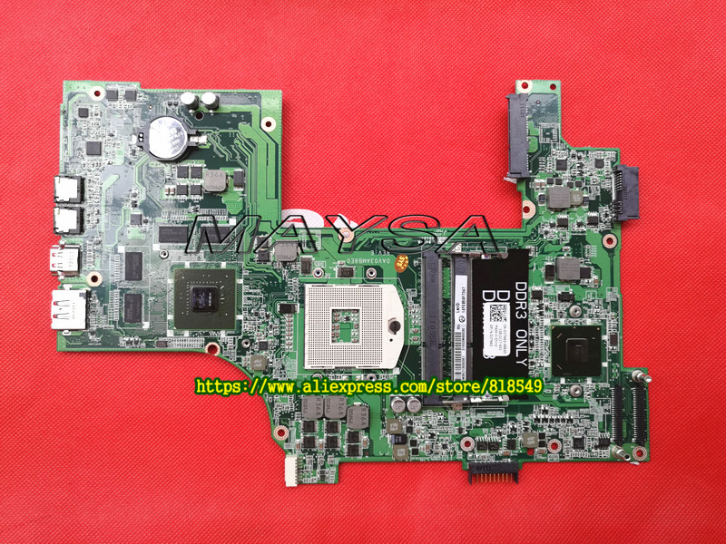 Laptop Motherboard Fit For Dell N7110 DAV03AMB8E1 Mainboard with Video card 100% Tested Good working for dell v3300 laptop motherboard mainboard 48 4ex01 011 100