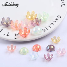 Acrylic Flower Beads Transparent Six petals For Jewelry Making Hair ornament Bracelets Women Materials Design