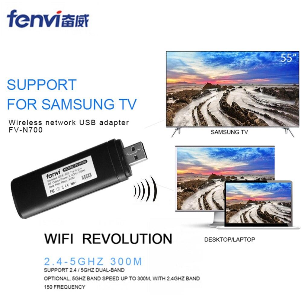 Fenvi Original WLAN inalámbrica LAN USB para Samsung TV tarjeta de red WiFi Dongle adaptador 5g 300 Mbps Smart TV WIS12ABGNX WIS09ABGN PC