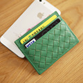 LAN  cow leather  men's woven credit card case handmade leather bank card case