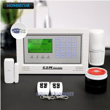 HOMSECUR App Controlled Wireless GSM LCD Home Security Alarm System with Friendly Menu