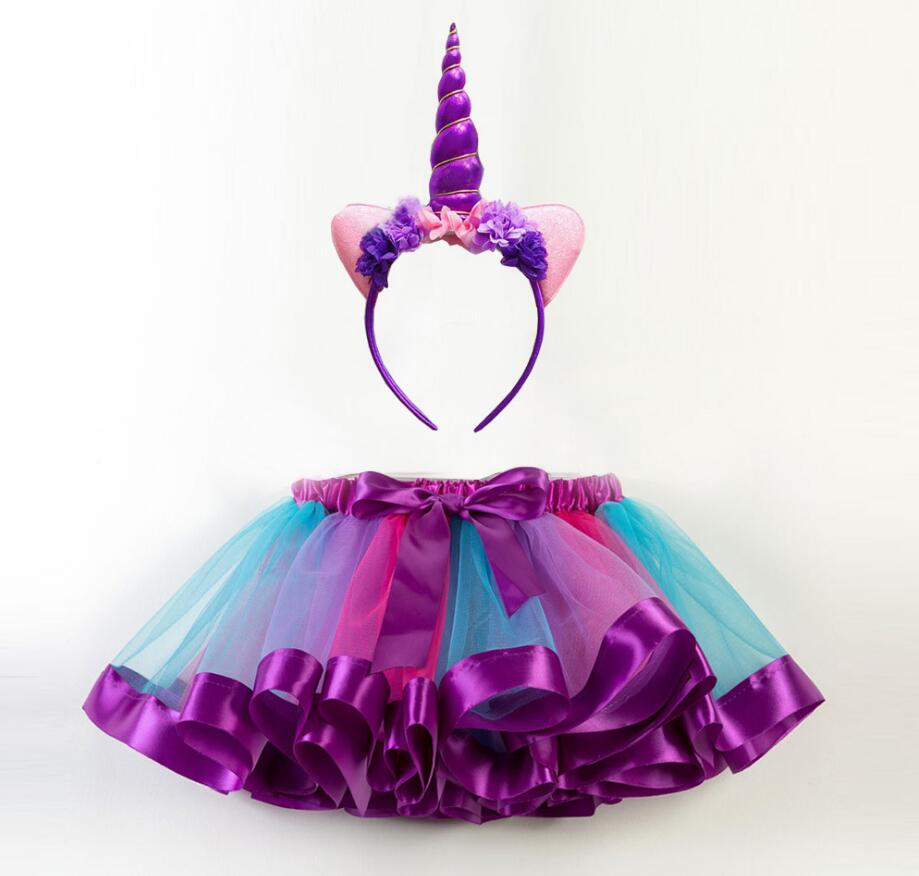 New Unicorn Party Dress Girls Kids Carnival Costume Children Rainbow Princess Tutu Dresses Girls Halloween Cosplay Fancy Dress