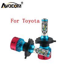Avacom 2 Pcs Mini Car Lamps 12V 6500K LED H1 H4 H7 H11 9005 9006 H15 Bulb For Toyota Corolla/Camry/Rav4/Echo/Prius/Sienna/Venza(China)