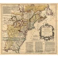 Ölgemälde auf leinwand 100% baumwolle malerei kern Nordamerika Antike karte