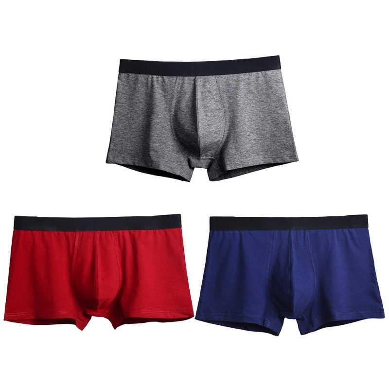 51e34bff6dd ... Male Model Boxer Underwear Elastic Wide Belt Men Underpant Solid  Breathable Panties Sexy Plus Size 3XL
