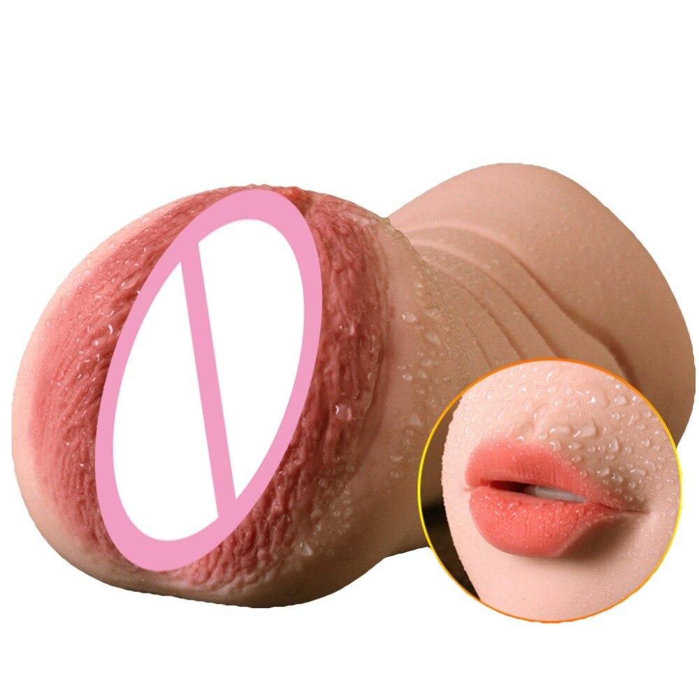 Mouth Masturbation Cup Male Realistic Vagina Erotic Sex toys Masturbators for Men