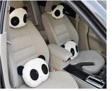 DIDIHOU Car Lovely Panda Shaped Car Headrest Pillow Cushion Head Neck Rest Pillows For Auto Car Seat Kids Adults Neck Protection(China)