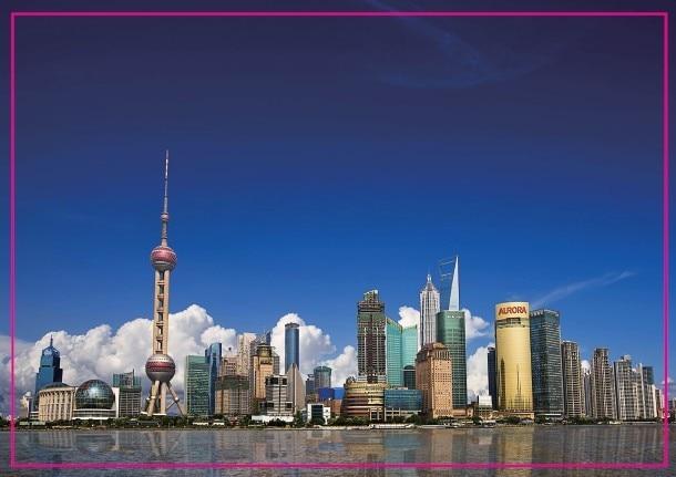 Plastic Oriental Pearl TV Tower Model W// Light Shanghai Souvenir 7/'/' Pink