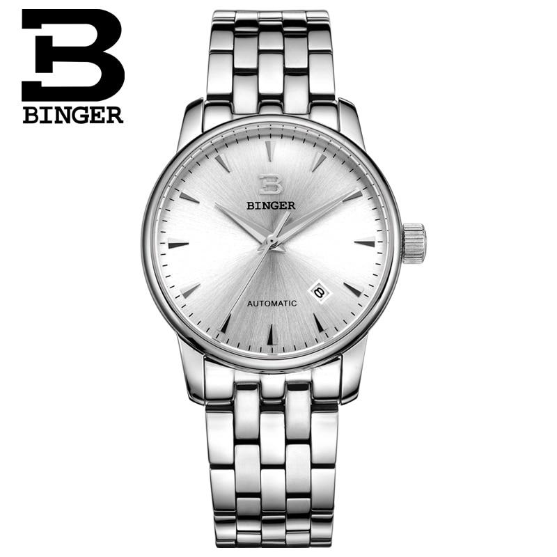 İsveçrə kişi lüks marka18K qızıl qol saatları BINGER iş - Kişi saatları - Fotoqrafiya 2
