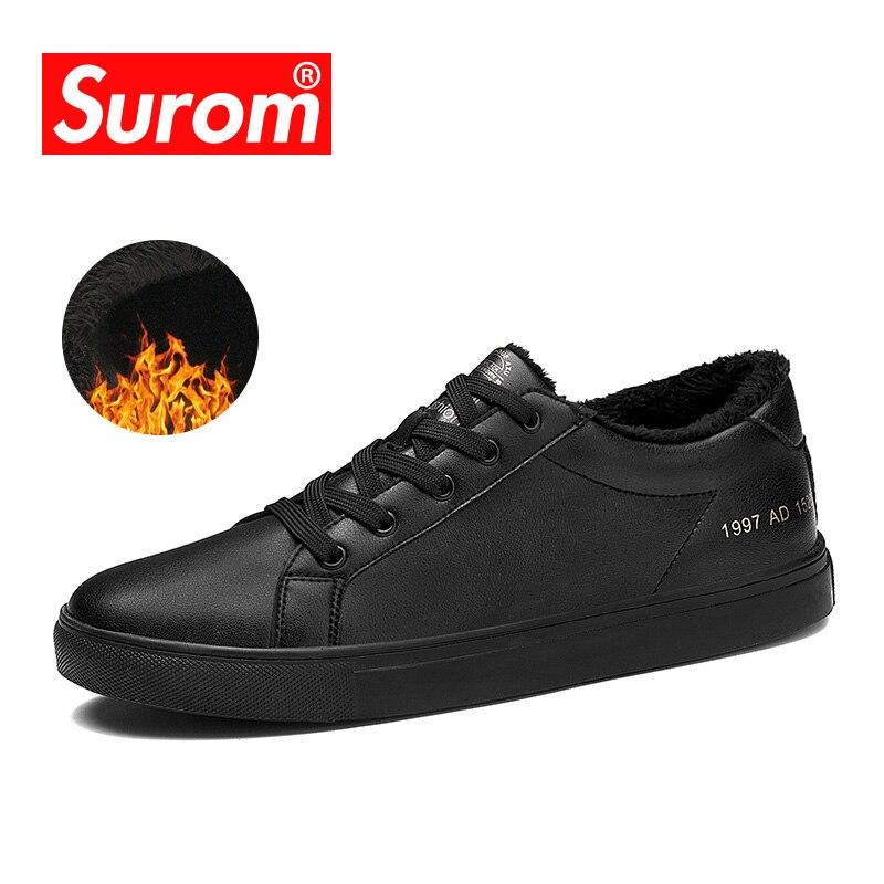 SUROM Marke Designer männer Casual Schuhe Sommer Atmungs Mode Weiße Turnschuhe Männer Leder Schuhe müßiggänger männer tenis krasovki