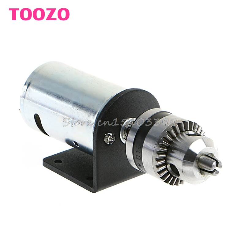 Mini Hand Drill DIY Lathe Press 555 Motor w/ 1/8 Chuck+ Mounting Bracket 12-36V 76zy01 mig wire feeder motor dc24 1 8 18m min 0 8 1 0mm roll without bracket