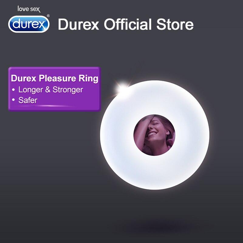 Durex placer anillo condón la ampliación anillo de pene extensor juguetes sexuales erótico productos seguros para los hombres la eyaculación retraso