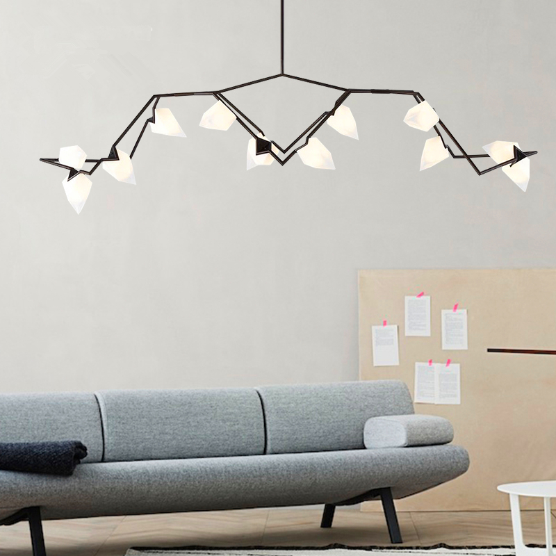 Art Chandelier Postmodern Simple Creative living room lights Chandeliers Nordic led Restaurant fixtures Peach Lamps цена и фото