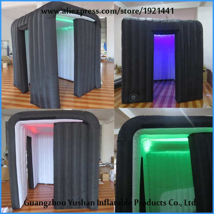 portable diy LED strip inflatable wedding decoration photo booth