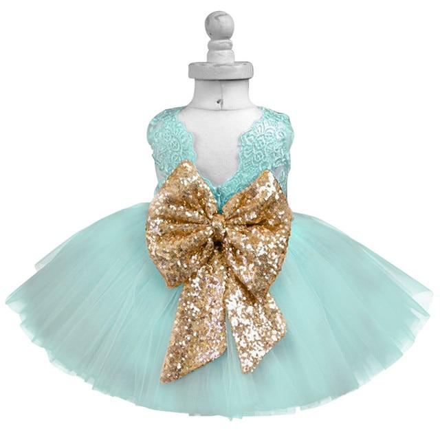 5e76da40700da Luxe bébé robe enfants robes de fête pour les filles vêtements petite fille  1-5