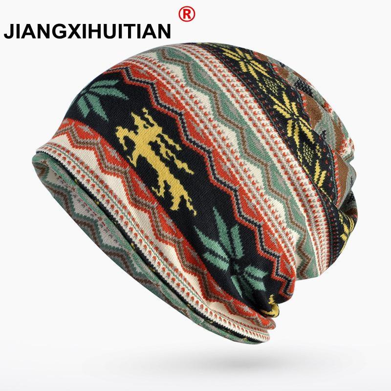 Winter Hats For Women Turban Hat Cap Female Plus Velvet Warm   Beanie   Knit Hat Male   Skullies     Beanies   Hip Hop Scarf Bonnet