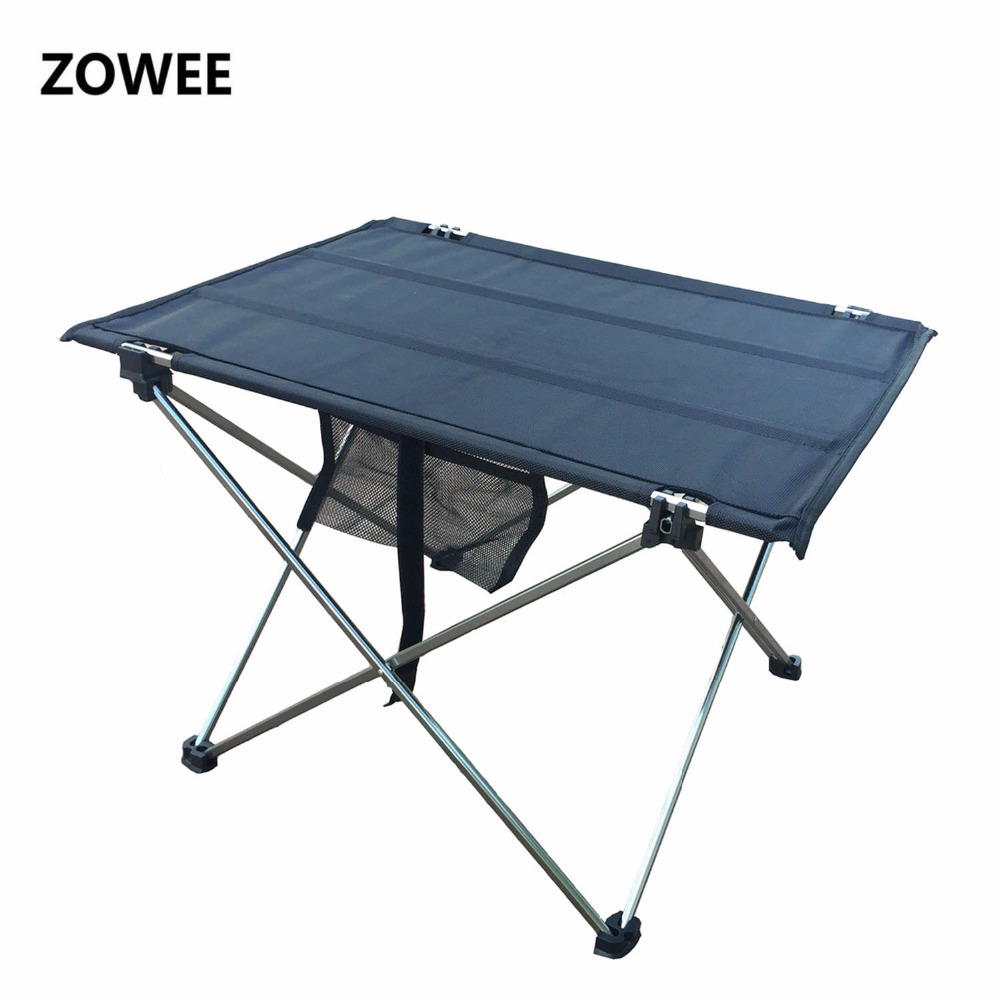 Outdoor Folding Table Camping Aluminium Alloy Picnic Table Waterproof Ultra-light Durable Folding Table Desk For Picnic& Camping