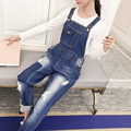 Large size New Spring Denim Jumpsuits Women Vaqueros Romper Long Pants Jeans Loose Overalls Suspender Female Slim Catsuit