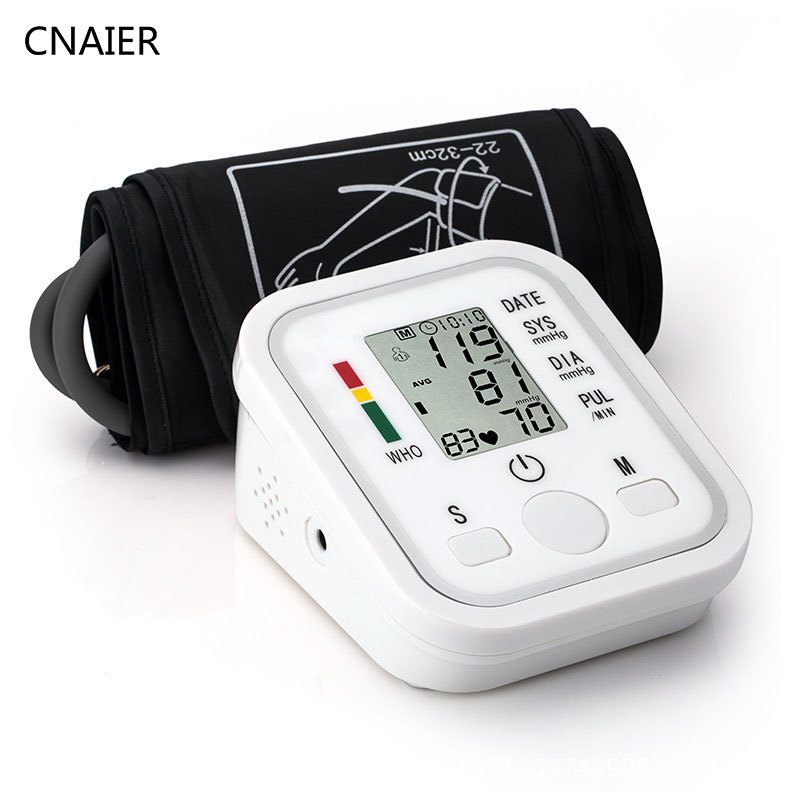 CNAIER Automatic Digital Sphygmomanometer Arm Blood Pressure Pulse Monitors Tonometer Portable Blood Pressure Health Device New high blood pressure improved blood pressure therapy watch laser therapy device manufacturer
