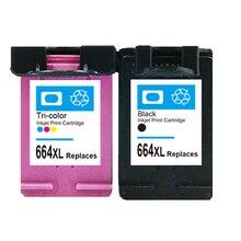 2PK For HP 664 XL Ink Cartridges for DeskJet 1115 2135 3635 1118 2138 3636 3638 printer ink