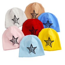 2017 New Baby Cotton Hats Star Print Caps For Boys Girls Cotton Knit Spring Autumn Winter Children Warm Hats Kids Child Beanies