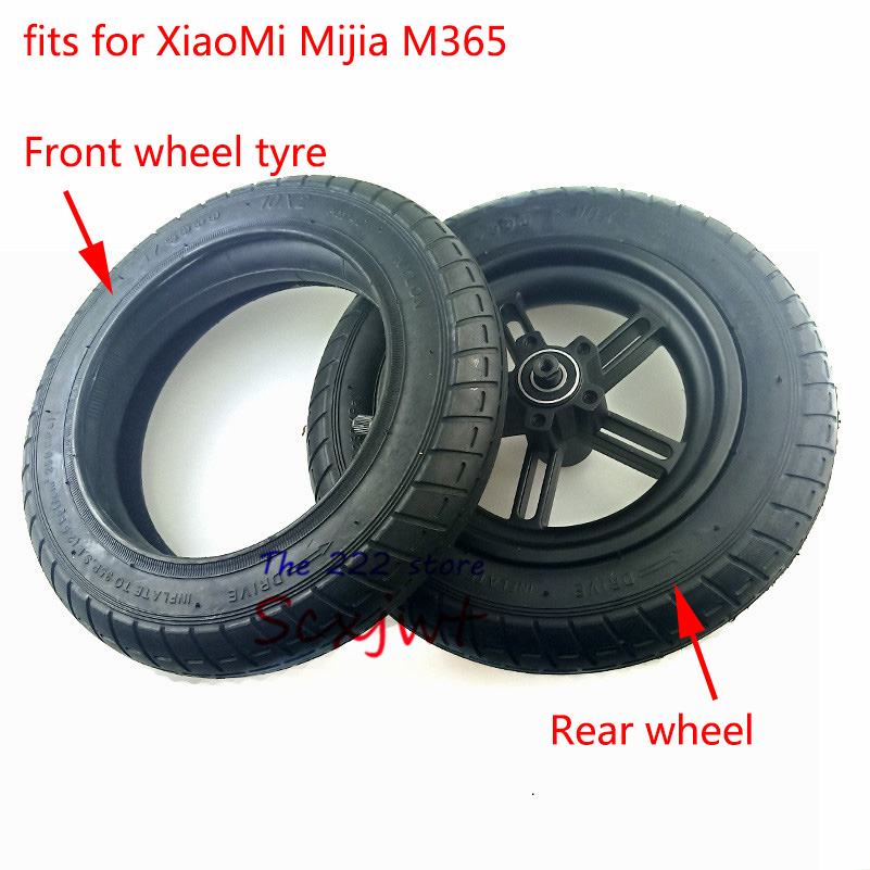 10X2 Wheel Rubber Pneumatic Tire 10 Inch Inner Tube for  M365 Electric Scooter