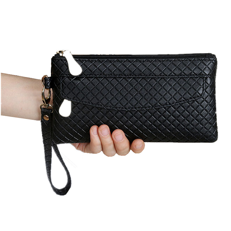 High Capacity Fashion Women Wallets Long  PU Leather Wallet Female Double Zipper Clutch Coin Purse Ladies Wristlet wtk52 godox studio flash accessories octagon softbox 37 95cm bowens mount with the gird for studio strobe flash light