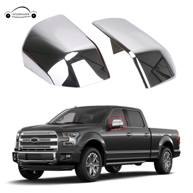 Chrome Top Half Mirror Cover Cap For Ford F150 2017 2016 Car Rear View Side Door Wing Overlays Shell Case