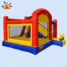 цена на inflatable mini bouncer family use inflatable bouncer castle with slide(free blower+free shipping)