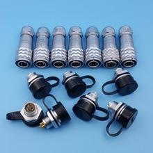 SF12 Waterproof Metal 2/3/4/5/6/7/9 Pin PUSH-PULL IP67 12mm