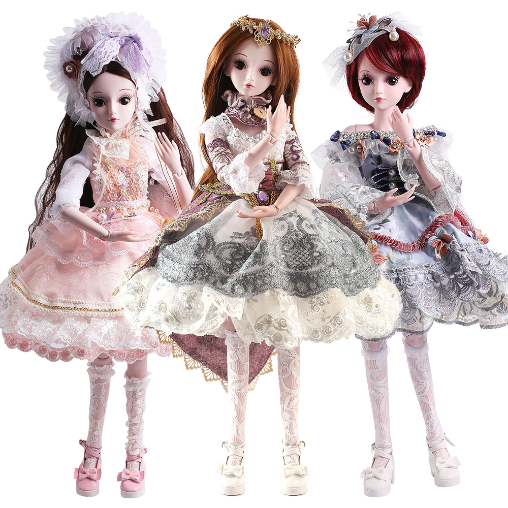 SHENGBOAO BJD Doll 24 inch 19 Ball Jointed Dolls Rapunzel Dress Wig Clothes Shoes Makeup SD Doll Toys for Girls Gifts Collection handsome grey woolen coat belt for bjd 1 3 sd10 sd13 sd17 uncle ssdf sd luts dod dz as doll clothes cmb107