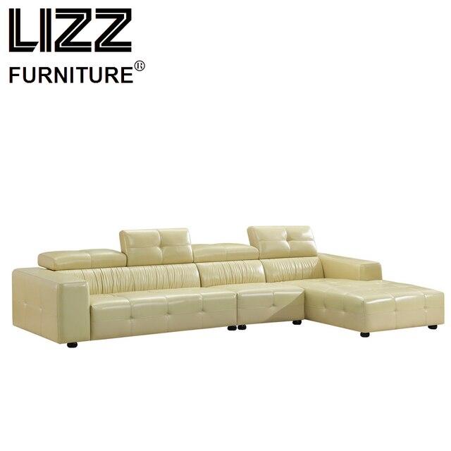 Lujo Muebles conjunto Cuero auténtico sofás para sala sofá moderno ...