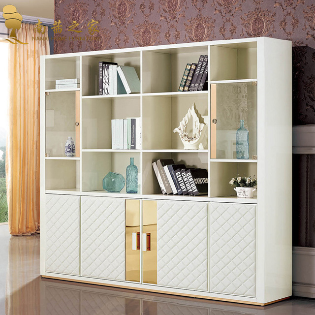 Italian design home furniture bookcase wooden cabinet office filing ...