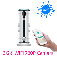 3g sans fil de sécurité à domicile wifi caméra d'alarme infrarouge motion détecteur PIR Capteur H.264 720 P IP Caméra Alarme Android IOS App JH09
