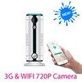 3g sem fio wi-fi câmera de segurança em casa de alarme infravermelho motion detector Sensor de PIR H.264 720 P IP Câmera de Alarme IOS Android App JH09