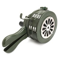 NEW Safurance Green Aluminium Alloy Crank Hand Operated Air Raid Emergency Safety Alarm Siren Home Self