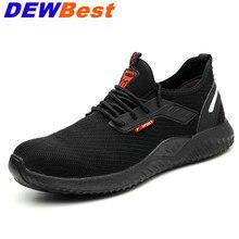 Защитная обувь для мужчин со стальным носком; Легкие кроссовки унисекс для работы; дышащие износостойкие кроссовки; Прямая поставка