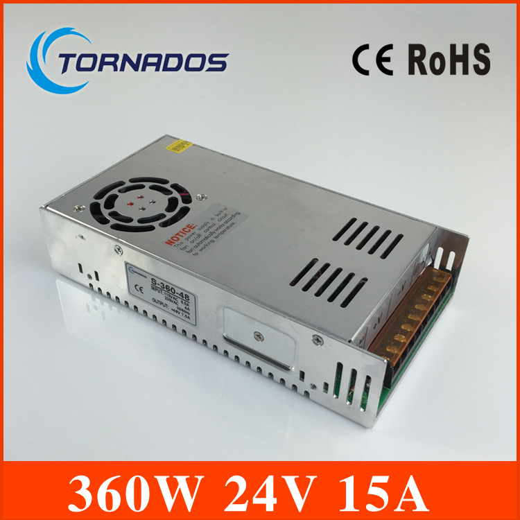 power supply 24v 15a 360W Single Output Switching power supply for LED AC to DC smps 24v led power supply  CE and ROHS approved 1200w 12v 100a adjustable 220v input single output switching power supply for led strip light ac to dc