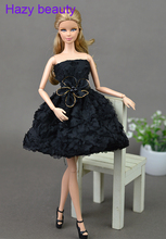 Hazy beauty Pretty dress accessories Gifts Black Short Dress clothes for Barbie dolls BBI001011