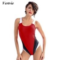 Vertvie 2018 One Piece Bathing Suit Women Maillot Athletic Training Trikini Sport Swimsuits Monokini Racing Swimwear